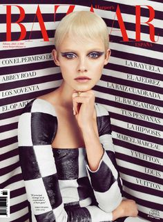 Ginta Lapina Mesmerizes in Louis Vuitton for Harpers Bazaar Spain February 2013 Cover