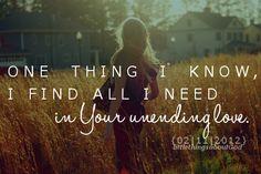 your unending love