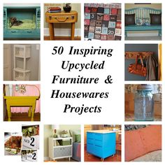 A Spectacled Owl: 50 Inspiring Upcycled Furniture & Housewares Projects. A great pin for DIY-ers!