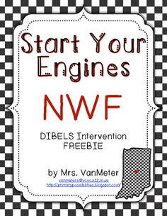 Nonsense Word Fluency (Race Car Theme) Freebie