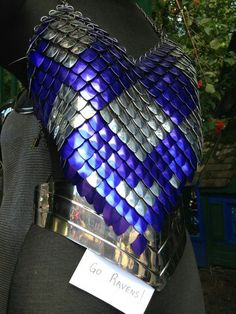 Diy armor idea - use colored plastic spoons - you can even spray paint them. OH. DUH. THAT'S AMAZING. YES.