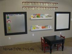 magnetic board & white board