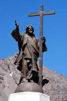 Cristo Redentor de los Andes (Christ the Redeemer of the Andes) is a monument high in the Andes at 3,832 metres (12,572 ft) above mean sea level on the border between Argentina and Chile. It was unveiled on 13 March 1904 as a celebration of the peaceful resolution of the border dispute between the two countries.