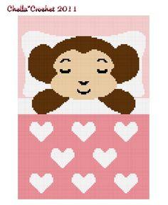 Chella Crochet Sleeping Baby Girl Monkey Crochet Afghan Pattern Graph