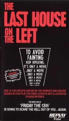 The Last House on the Left movie vhs cover