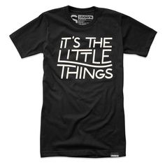 It's The Little Things Tee Black $22