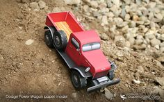 Papercruiser Dodge Power Wagon paper model | http://papercruiser.com/paper-model-photo-gallery/dodge-power-wagon/