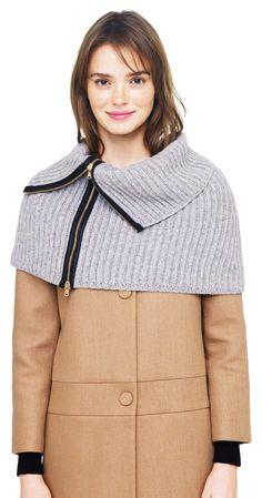 Natasha Wool & Leather Snood