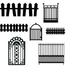 Free Cut Files:  Fences ~ KLDezign SVG