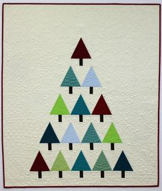 "Modern Trees quilt, 43 x 50"", quilt along by Christa Watson at Christa Quilts - September 2013"