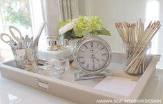 Organized and pretty desk accessories.