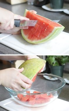 #12. The easiest and fastest way to cut watermelon! ~ 36 Kitchen Tips and Tricks That Nobody Told You About