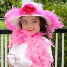 A Tea Party birthday complete with all the finery! What a great idea for a little girl!