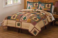 rustic bedding   ... Treasure Quilt & Sham Set Rustic Cabin Bedding Rustic Quilt Sets