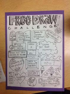 monthly free draw challenge activities