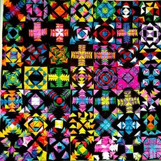 Paper Sculpture Quilt by my 5th grade students (Donna Staten)