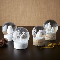 Snow Globes. #snowglobe #winter #decoration #magical