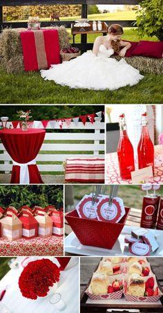 red wedding details ideas