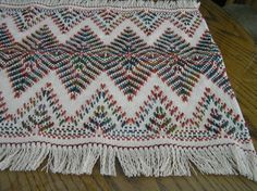 Natural Swedish Weave Table Runner by NeenersWeaving on Etsy, $60.00