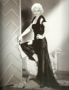 Jean Harlow in a velet jumpsuit designed by Vera West; photographed by Ray Jones