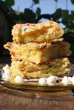 cake batter blondies - yum.
