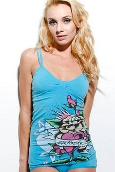 CLICK IMAGE TWICE FOR PRICING AND INFO :) #bra #bras #shelf #shelfbra #shelfbras #womens #intimates  SEE A LARGER SELECTION FOR the shelf bra at http://zwomensbra.com/category/bra-categories/shelf-bra/ -  Ed Hardy Blue Vanessa Cami With Shelf Bra (LARGE, BLUE) « Z Womens Bra