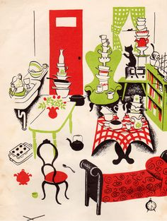 The Man Who Didnt Wash His Dishes - illustrated by Barbara Cooney
