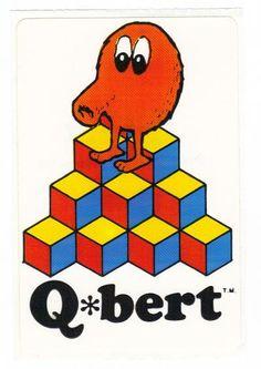 Vintage 1983 Arcade Q bert sticker