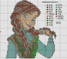 Princess Anna - Frozen pattern by syra1974 on deviantART