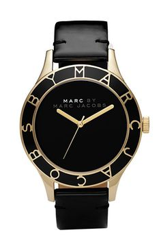 marc jacobs watch black, accessori, marc by marc jacobs, black gold, watch marc jacobs