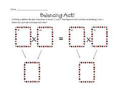 Balancing Act- Practice Multiplication Skills