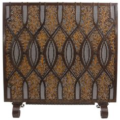 Edgar Brandt Art Deco important wrought iron fire screen c. 1925 | From a unique collection of antique and modern fireplaces and mantels at http://www.1stdibs.com/furniture/building-garden/fireplaces-mantels/