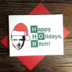 Breaking Bad Jesse Christmas Card by Turtle Soup