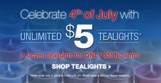 $5 PartyLite Tealight Candles thru 7/4/12!!! HAPPY 4TH OF JULY!