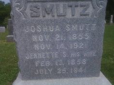 Tombstone Tuesday – Smutz #genealogy #familyhistory