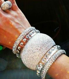 Fine jewelry: Diamond Bling bracelet stack and ring
