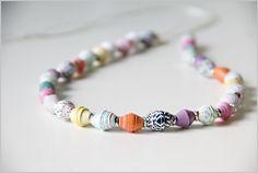 Paper Beads via @gossamerbluekit