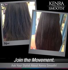 Eliminate up to 99% of curl and frizz with Kenra Smooht! Work by hairbyteri808 on Instagram.