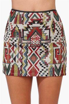 Aztec Mini Skirt