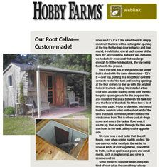 tips on root cellars