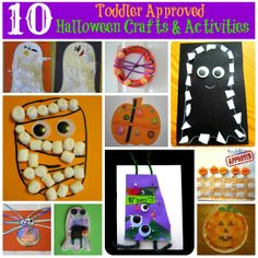 Toddler Approved!: 10 Toddler Approved Halloween Crafts and Activities http://www.toddlerapproved.com/2012/10/10-toddler-approved-halloween-crafts.html?m=1