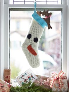 Christmas Character Stockings | Yarn | Free Knitting Patterns | Crochet Patterns | Yarnspirations