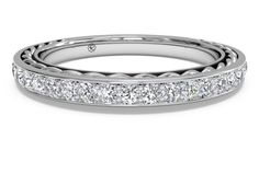 Women's Micropavé Diamond Braided Wedding Band - in White Gold (0.32 CTW)
