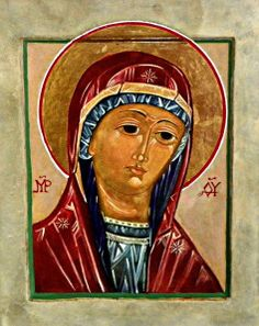 Holy, revealed icon of the Virgin Mary, Mother of #God, completed by Fr. Richard G. Cannuli, OSA in May 2013 at Clare, Suffolk, UK; based on my original icon painting. This icon was blessed during the celebration of the Liturgy #catholic #orthodox #icons #iconography #art #Christianity #virgin