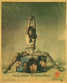 Anita Russell starring in a Rolling Stones Billboard ad, removed after feminist protest.