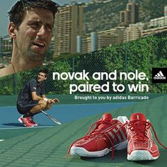Novak's Adidas Barricade shoes #TennisCouture #TennisFashion