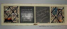 """Wonderfully Made"": Window Frame Memo Board"