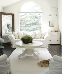Day 1 of Slipcover Week: Beautiful White Inspiration - HoneyBear Lane