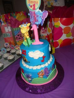 A big thank you to Karla Rodriquez for posting this beautiful #birthday cake created for little fan Emma! We love the Speckles topper and the bright colors! #GBbirthday