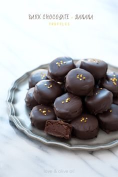 Dark Chocolate Banana Truffles. Full recipe